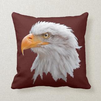 Alaskan Bald Eagle Pillow (Burgundy)