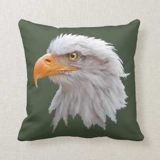 Alaskan Bald Eagle Pillow (Dark Green)