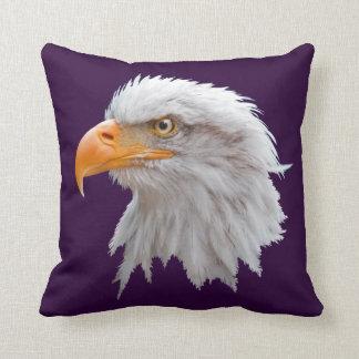 Alaskan Bald Eagle Pillow (Purple)