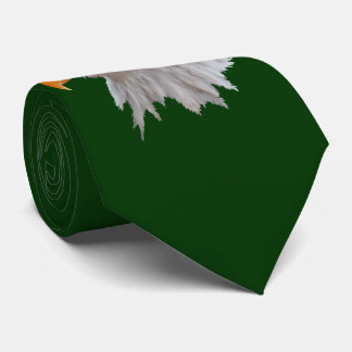 Alaskan Bald Eagle Tie Double Sided (Dark Green)