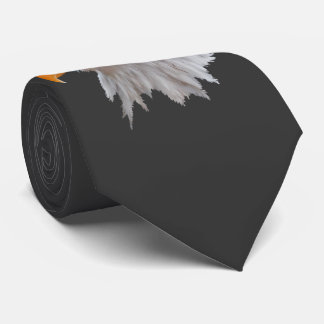 Alaskan Bald Eagle Tie Double Sided (Dark Grey)