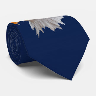 Alaskan Bald Eagle Tie Double Sided (Navy)