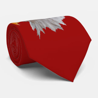 Alaskan Bald Eagle Tie Double Sided (Red)