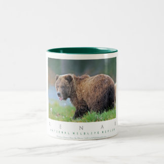 Alaskan Brown Bear Two-Tone Coffee Mug