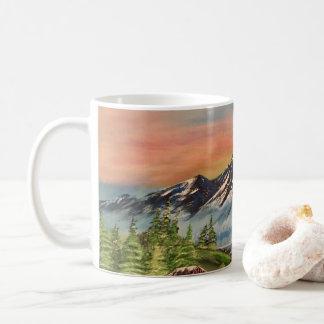 Alaskan cabin in the wilderness coffee mug