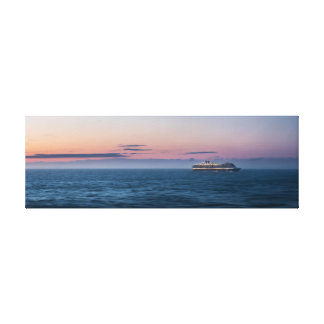 Alaskan Cruise Ship Sunset Canvas Print