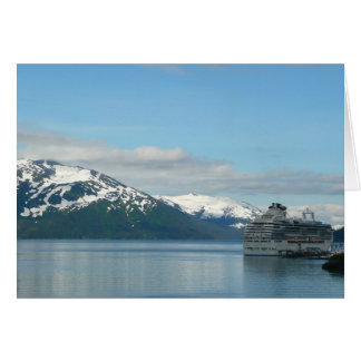 Alaskan Cruise Vacation Travel Photography Card