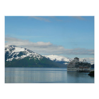 Alaskan Cruise Vacation Travel Photography Poster