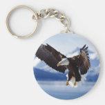 Alaskan Eagle In Flight Key Chains