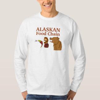Alaskan Food Chain Funny Alaska Souvenir Tee