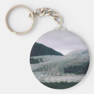 Alaskan Glacier Basic Round Button Keychain