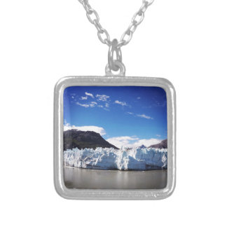 Alaskan Glacier Silver Plated Necklace