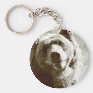Alaskan Grizzly Bear Keychain