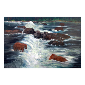 Alaskan Grizzly Bears Photographic Print