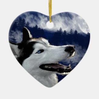 Alaskan Husky Ceramic Ornament