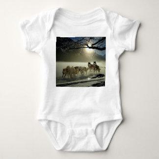 Alaskan Husky Dog Sled Race Baby Bodysuit