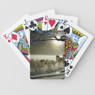 Alaskan Husky Dog Sled Race Bicycle Playing Cards