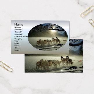 Alaskan Husky Dog Sled Race Business Card