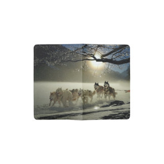 Alaskan Husky Dog Sled Race Pocket Moleskine Notebook