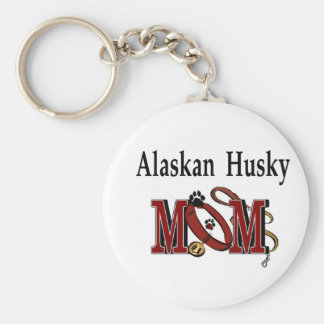 Alaskan Husky Lovers Apparel Gifts Basic Round Button Keychain