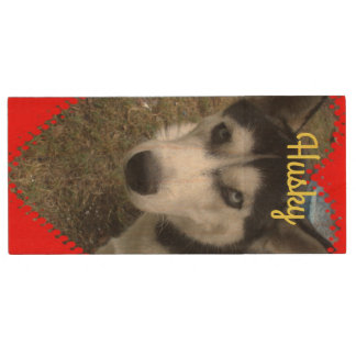 Alaskan Husky Maple, 8gb, Rectangle Wood USB 3.0 Flash Drive