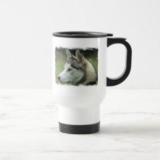 Alaskan Husky Plastic Travel Mug