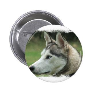 Alaskan Husky Round Button
