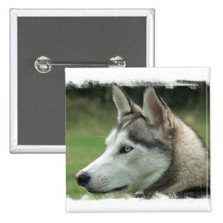 Alaskan Husky Square Pin