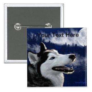 Alaskan Huskys 2 Inch Square Button