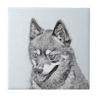 Alaskan Klee Kai Painting - Cute Original Dog Art Tile