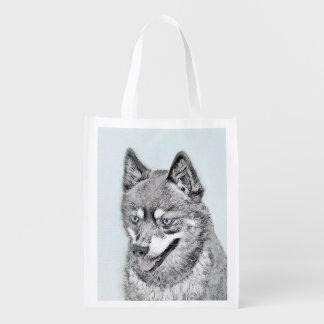 Alaskan Klee Kai Reusable Grocery Bag