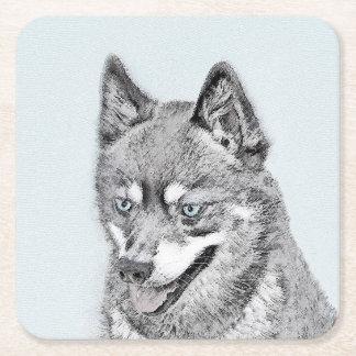 Alaskan Klee Kai Square Paper Coaster