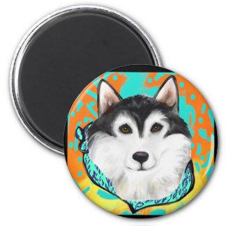 Alaskan Malamute 2 Inch Round Magnet