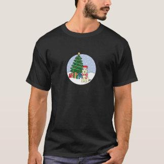 Alaskan Malamute and Christmas Tree T-Shirt
