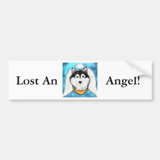 Alaskan Malamute Angel Bumper Sticker