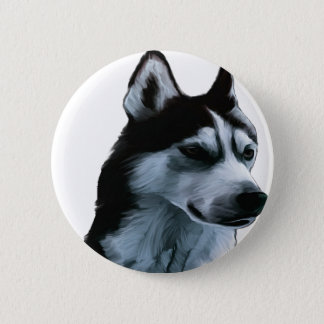 Alaskan Malamute Artwork 2 Inch Round Button