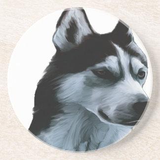 Alaskan Malamute Artwork Coaster