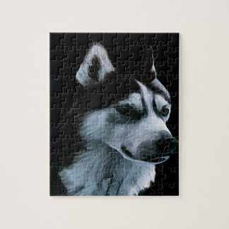 Alaskan Malamute Artwork Jigsaw Puzzle