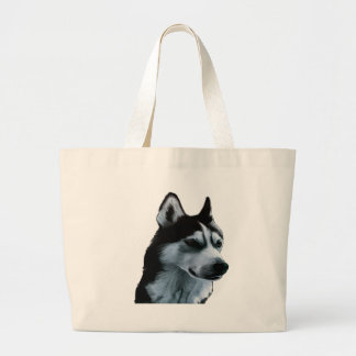 Alaskan Malamute Artwork Large Tote Bag