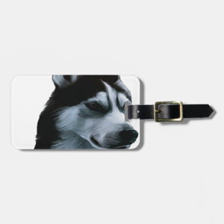 Alaskan Malamute Artwork Luggage Tag