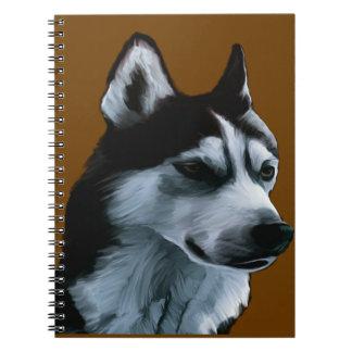Alaskan Malamute Artwork Notebook