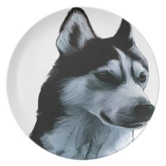Alaskan Malamute Artwork Plate
