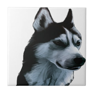 Alaskan Malamute Artwork Tile