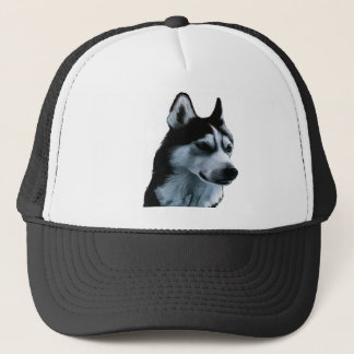 Alaskan Malamute Artwork Trucker Hat