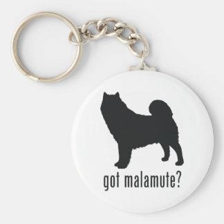 Alaskan Malamute Basic Round Button Keychain