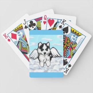 Alaskan Malamute Bicycle Playing Cards