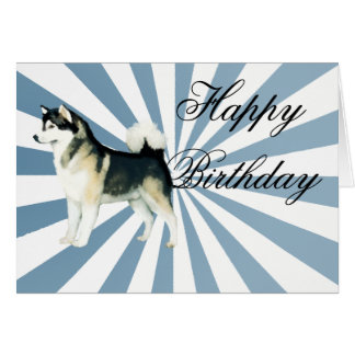 Alaskan Malamute Birthday Card