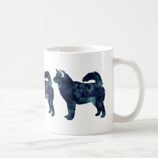 Alaskan Malamute Black Watercolor Silhouette Coffee Mug