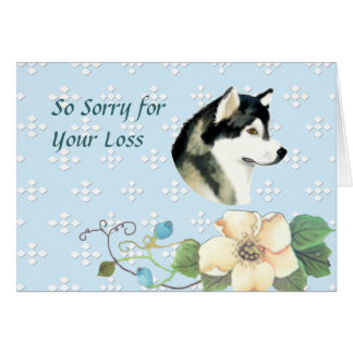 Alaskan Malamute ~ Blue w/ White Diamonds Card