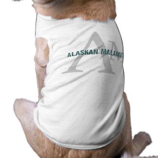 Alaskan Malamute Breed Monogram Doggie Tee